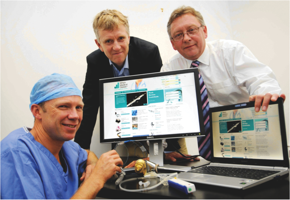 The Which Medical Device team, left to right: Dr Phil Haslam; Mr Craig Gerrand, Mr Steve Walmsley
